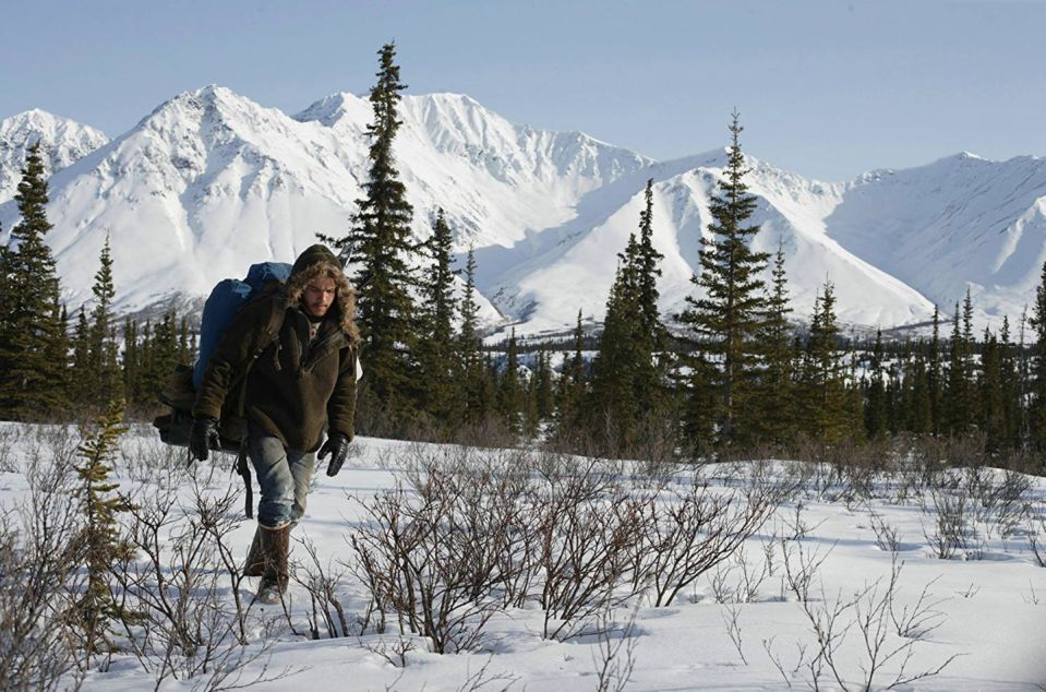 <p>Based on a novel of the same name by Jon Krakauer, <em>Into the Wild, </em>starring Emile Hirsch, portrays the tragic coming-of-age story of Chris McCandless and his journey in the Alaskan wilderness. </p>