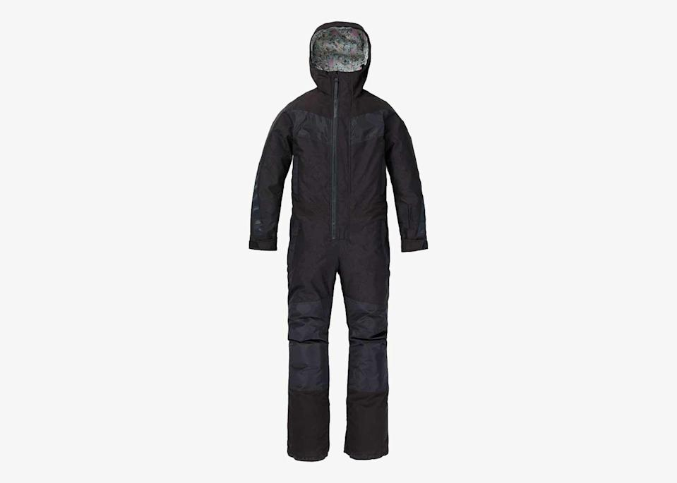 """For the winter weather enthusiast who cares a bit more about function than form, this one-piece from snowboard brand Burton is a good option. The suit still has a roomy fit, however, making it a great option for non-skiers who plan to dine or hang out outdoors (you can even fit a pair of jeans underneath). $340, Burton. <a href=""""https://www.burton.com/us/en/p/womens-burton-larosa-one-piece/W21-220921.html"""" rel=""""nofollow noopener"""" target=""""_blank"""" data-ylk=""""slk:Get it now!"""" class=""""link rapid-noclick-resp"""">Get it now!</a>"""