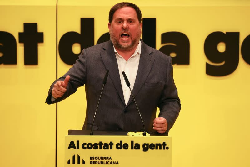 FILE PHOTO: Catalonia begins political campaign ahead of February 14th election, in Badalona