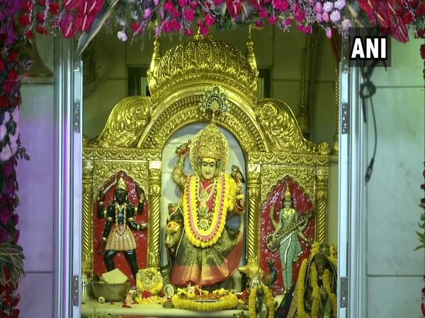 At the Jhandewalan Temple in Delhi on Saturday, which marks the beginning of Navratri. (Photo/ANI)