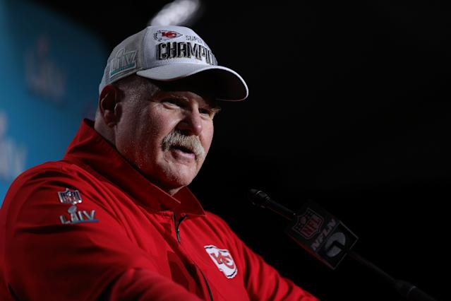 If Donald Trump extends an invitation to the Chiefs, Andy Reid said he'll make the celebratory trek to the White House. (Maddie Meyer/Getty Images)