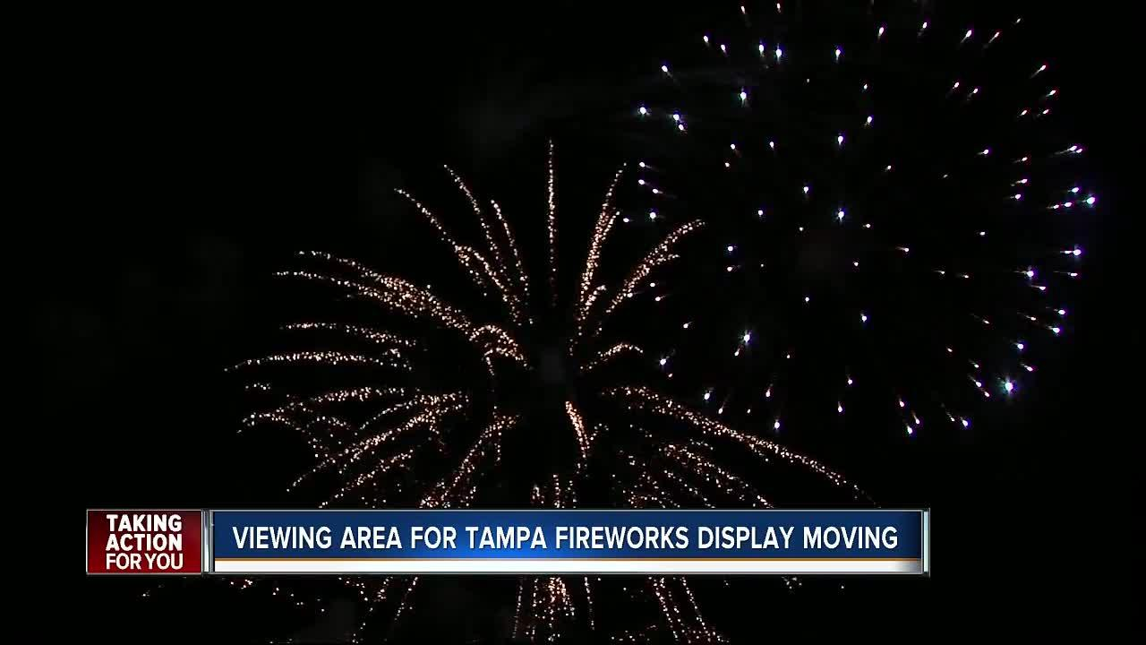 This New Year's Eve, the viewing area for the annual fireworks display traditionally hosted at Channelside will be moved to Cotanchobee Fort Brook Park due to construction at the Channelside waterfront.