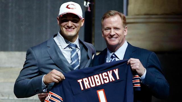 The Bears traded up for a quarterback who rooted for the Packers.
