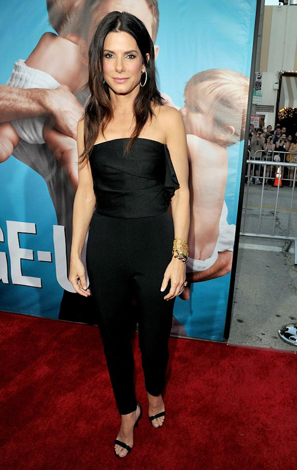 """<a href=""""http://movies.yahoo.com/movie/contributor/1800018970"""">Sandra Bullock</a> at the Los Angeles premiere of <a href=""""http://movies.yahoo.com/movie/1810155680/info"""">The Change-Up</a> on August 1, 2011."""