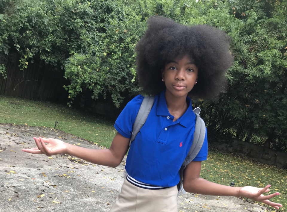 Promise Sawyers, 10, has inspired thousands of people with a viral video about embracing her natural hair. (Photo courtesy of Qui Daugherty)