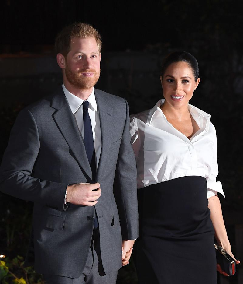 The Duke and Duchess of Sussex arriving at the Endeavour Fund Awards at Drapers Hall, London. (Photo: Doug Peters/EMPICS Entertainment)