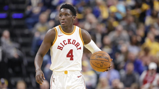 Victor Oladipo is averaging 24.4 points, 5.4 rebounds and 4.1 assists this season. (AP Photo/Michael Conroy)
