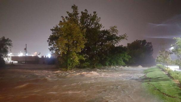PHOTO: Heavy rains cause major flooding along Indian Creek at 103rd and Wornall St., Aug. 22, 2017, in Kansas City, Mo. (KMBC)