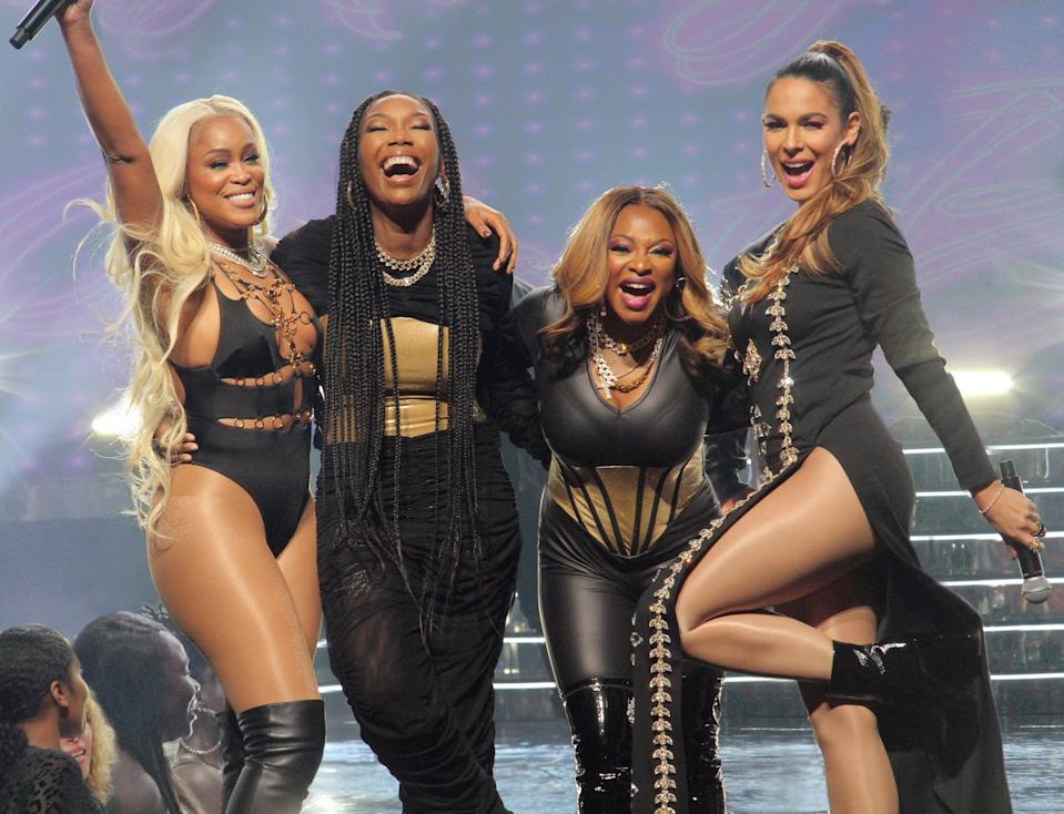 This new series follows Brianna, Jill, Valeria, and Naomi, four women in their 40s who reunite in an attempt to recapture the fame they once had in the '90s. The four friends learned that fame is fleeting and now want to prove that they are still legends in the hip-hop world.Starring:Eve, Naturi Naughton, Nadine Velazquez, Brandy, and moreWhen it premieres:Oct. 19 on ABCWatch the trailer here