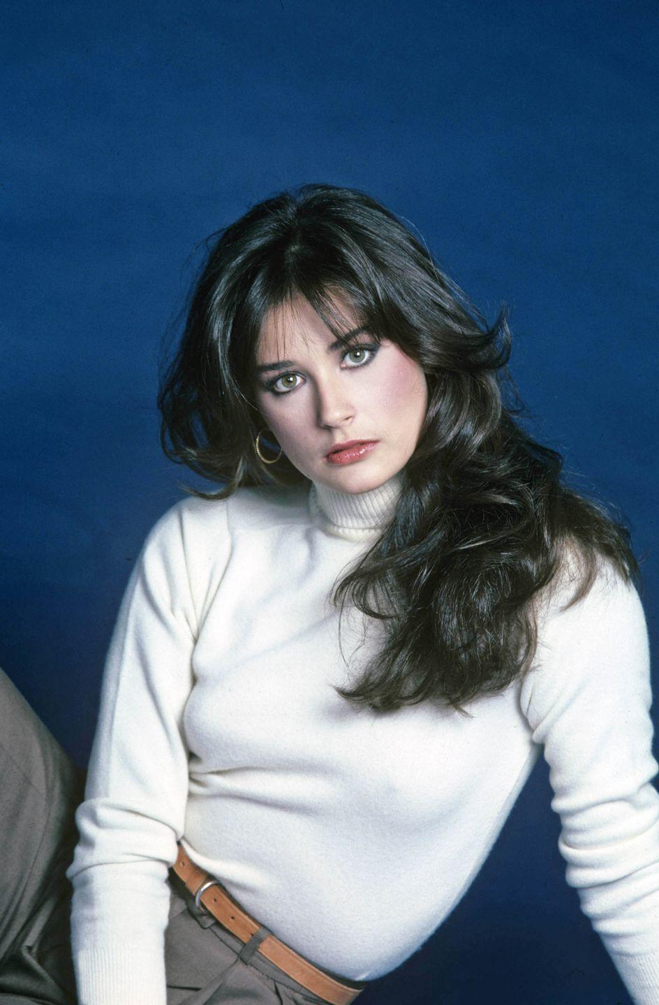<p>After gaining some Hollywood buzz acting on the soap opera <em>General Hospital </em>in 1981, Moore joined the Brat Pack and transitioned on to the big screen in <em>Blame it on Rio,</em> <em>St Elmo's Fire, </em>and <em>About Last Night. </em></p>