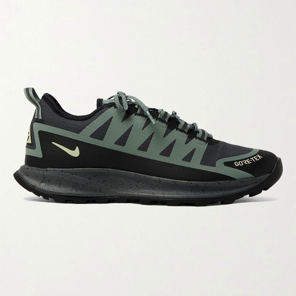 """<p><strong>NIKE ACG</strong></p><p>mrporter.com</p><p><a href=""""https://go.redirectingat.com?id=74968X1596630&url=https%3A%2F%2Fwww.mrporter.com%2Fen-us%2Fmens%2Fproduct%2Fnike%2Fshoes%2Flow-top-sneakers%2Facg-air-nasu-gore-tex-and-ripstop-hiking-sneakers%2F9649229528590444&sref=https%3A%2F%2Fwww.esquire.com%2Fstyle%2Fmens-fashion%2Fg36651914%2Fmr-porter-sale-june-2021%2F"""" rel=""""nofollow noopener"""" target=""""_blank"""" data-ylk=""""slk:Shop Now"""" class=""""link rapid-noclick-resp"""">Shop Now</a></p><p><del>$140.00</del> <strong>$98.00 (30% off)</strong> </p><p>You can hike in 'em, stunt in 'em, or, if you're feeling extra ambitious, do both.</p>"""