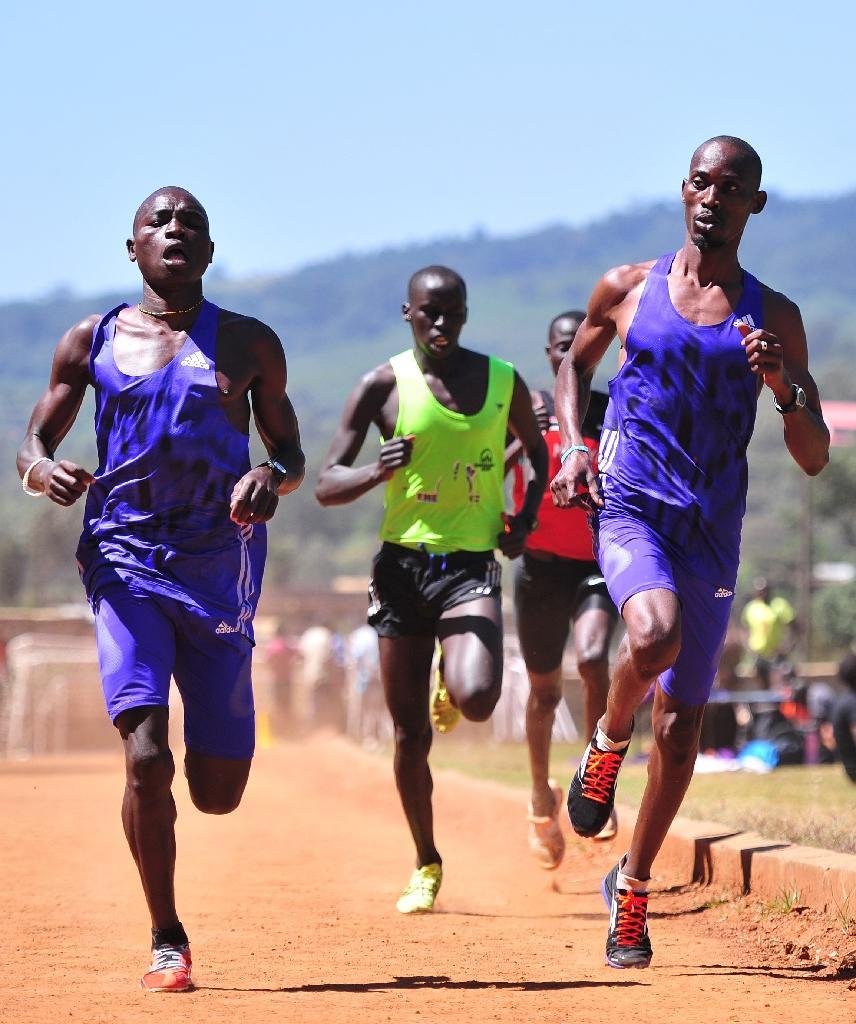 At Ngong, a high altitude running track some 2,400 meters above sea level, athletes from across eastern Africa are chasing the dream of the Olympics (AFP Photo/Simon Maina)