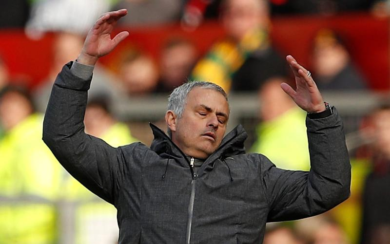 Jose Mourinho -Jose Mourinho and Pep Guardiola have little time to reignite old feud as Man Utd and Man City focus on bigger picture ahead of derby - Credit: REUTERS