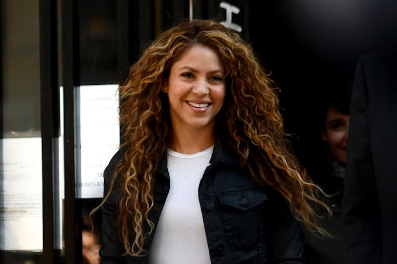 Colombian superstar singer Shakira, pictured in March, was questioned by a Spanish judge Thursday about alleged tax evasion