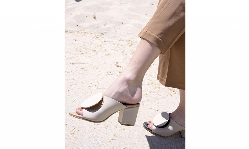 """<p><a href=""""https://thepalatinesshoes.com/"""" rel=""""nofollow noopener"""" target=""""_blank"""" data-ylk=""""slk:The Palatines"""" class=""""link rapid-noclick-resp"""">The Palatines</a>, a footwear brand, was founded by Jessica Taft Langdon, and both designs and manufactures in Los Angeles. Langdon's past experience working at Alexander Wang, Proenza Schouler, and Everlane come through in her unique modern, colorful footwear collection, tailor-made for summertime ($260-$485). (Photo: Courtesy of the Palatines) </p>"""
