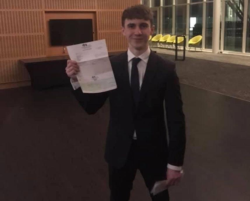 Joseph Flavill had been studying for his A-levels before he was hit by a car last March. (Reach)