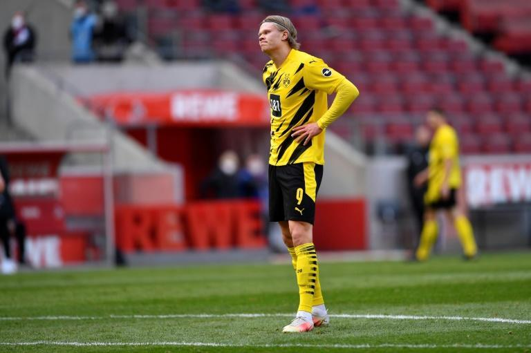 Erling Braut Haaland showed his frustrations after netting twice in a 2-2 draw at Cologne before the international break