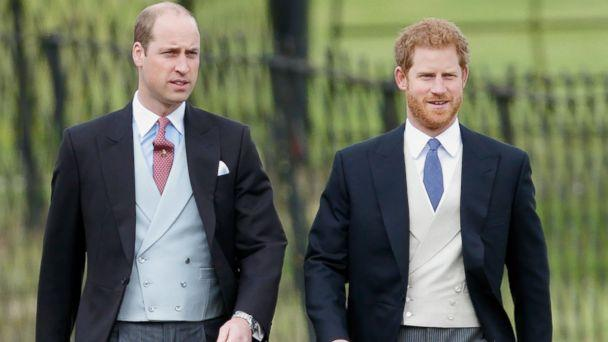PHOTO: Prince William, Duke of Cambridge and Prince Harry attend the wedding of Pippa Middleton and James Matthews at St Mark's Church, May 20, 2017, in Englefield Green, England. (Max Mumby/Indigo/Getty Images)