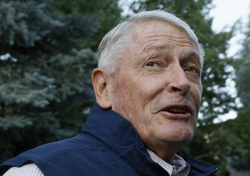 Liberty Media Corp. chairman John Malone arrives at annual Allen and Co. conference at the Sun Valley