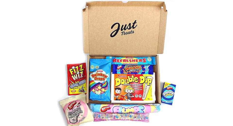 Retro Sweets Mini Box | Letterbox Size Box Filled with Retro Sweets