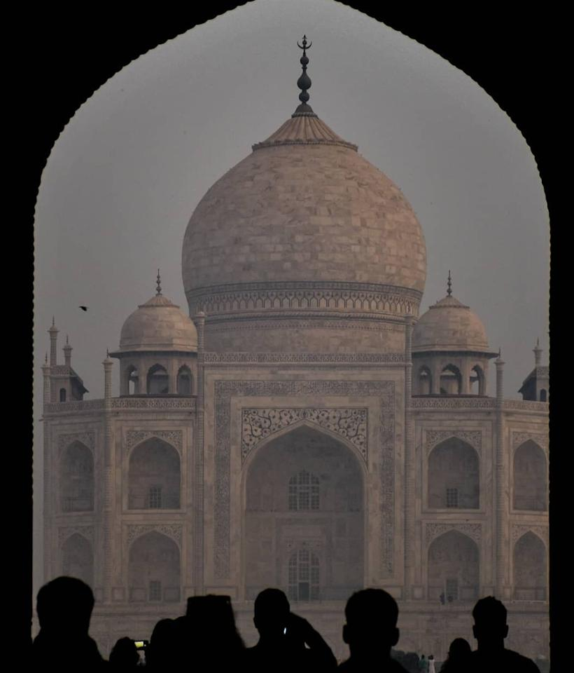 One of the seven wonders of the world, the Taj Mahal.