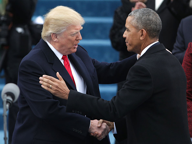 Trump reportedly shows obamas inauguration day letter to oval donald trump obama m4hsunfo