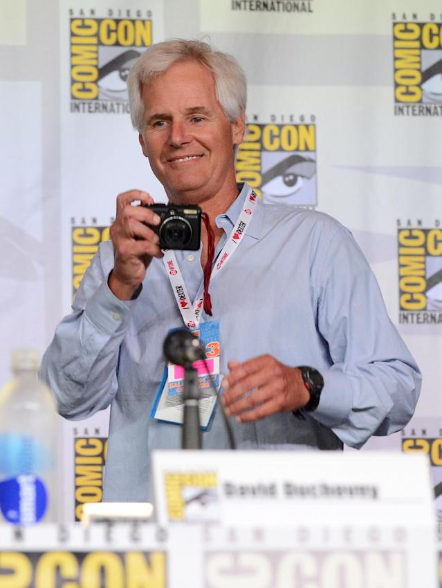 SAN DIEGO, CA - JULY 18: Writer Chris Carter speaks onstage during the 20th Anniversary celebration of the X-Files with TV Guide during Comic-Con International 2013 at San Diego Convention Center on July 18, 2013 in San Diego, California. (Photo by Albert L. Ortega/Getty Images)