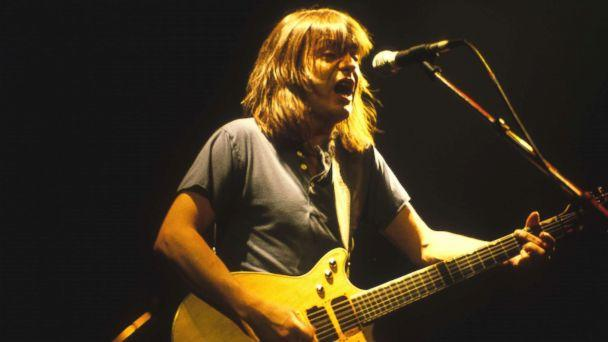 PHOTO: Guitarist Malcolm Young of the rock band AC/DC performs at the Met Center in Bloomington, Minn., Sept. 29, 1985. (Jim Steinfeldt/Michael Ochs Archives/Getty Images, FILE)