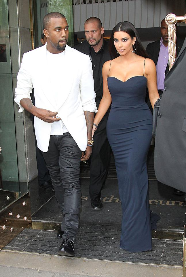 """Kanye West has a secret plan behind his 'relationship' with Kim Kardashian,"" reports <i>MediaTakeOut,</i> which reveals his next record will be a ""breakup album,"" featuring songs about his ""messy"" split from the reality star. It's all been ""pre-planned,"" explains the site. For when West will dump her, and whether she's in on the scheme, see what a Kardashian confidante admits to <a target=""_blank"" href=""http://www.gossipcop.com/kanye-west-breakup-album-kim-kardashian-diss-tracks-split/"">Gossip Cop</a>."