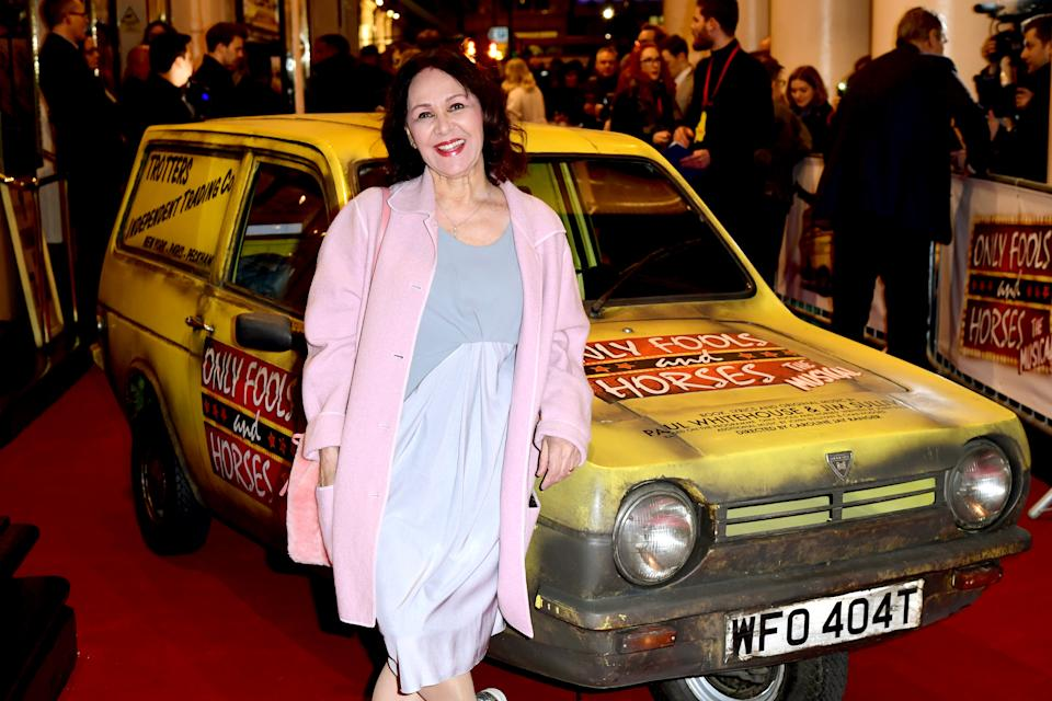 Arlene Phillips attending the Only Fools and Horses the Musical opening night at the Theatre Royal Haymarket. Tuesday February 19, 2019. Photo credit should read: Ian West/PA Wire