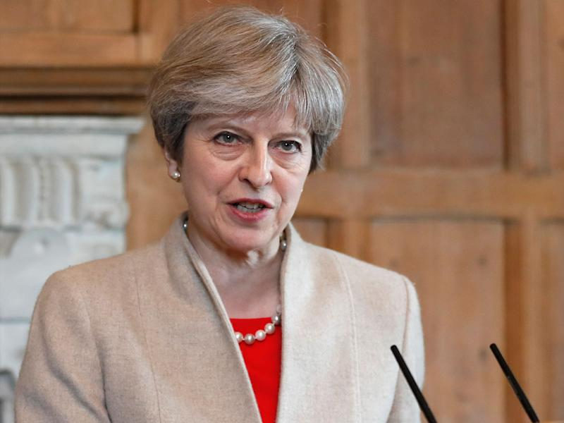 Theresa May called the election to pave a clear path for Brexit – the House of Lords could stand in her way again: AP