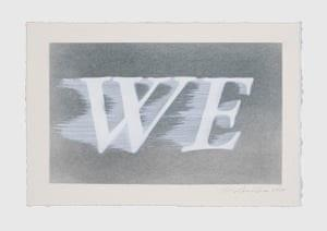 """<span class=""""caption"""">We.</span> <span class=""""attribution""""><span class=""""source"""">Ed Ruscha, We (#1), 2020. Photograph : Courtesy of the Artist and Gagosian</span></span>"""