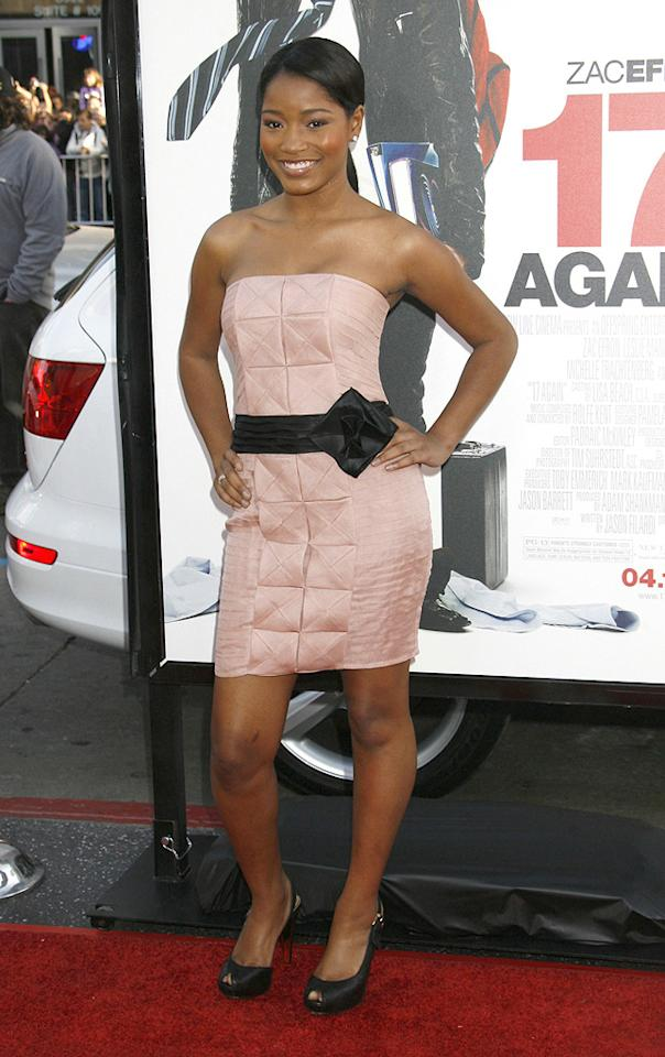 """<a href=""""http://movies.yahoo.com/movie/contributor/1808538452"""">Keke Palmer</a> at the Los Angeles premiere of <a href=""""http://movies.yahoo.com/movie/1810038675/info"""">17 Again</a> - 04/14/2009"""