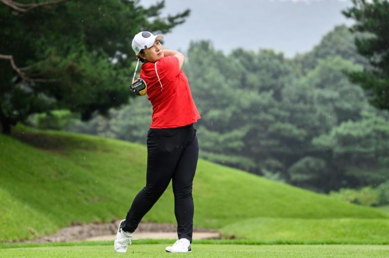 Five years after retiring, Pak Se-ri still exudes determination on the course (AFP/Anthony WALLACE)