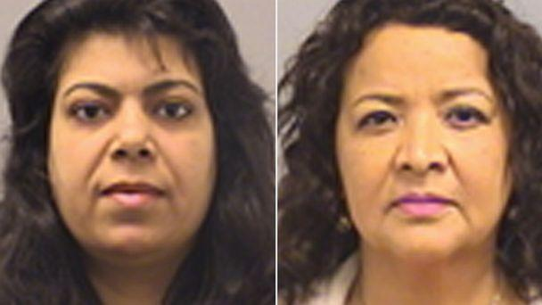 PHOTO: Cylmeera Gastav, left, and Cecilia Maria Benavides are seen here in mugshots released by the Fairfax County Police Department in Virginia. (Fairfax County Police Department)
