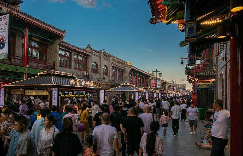 Night market for citizens in Inner Mongolia, China. Source: AAP