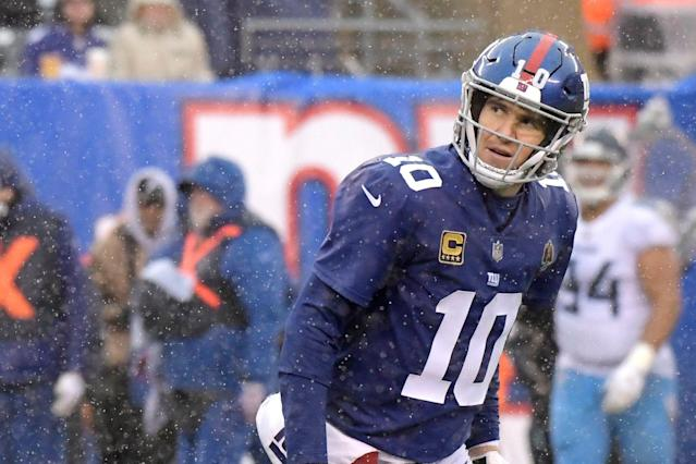 New York Giants quarterback Eli Manning is back in the team's plans for 2019, and there apparently never was any doubt. (AP)