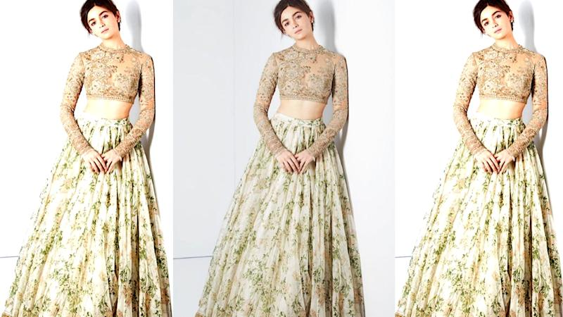 In Pics: B'Day Girl Alia Bhatt In Sabyasachi Outfits