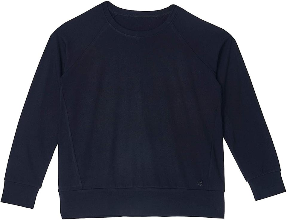 <p>The <span>Cozy Earth Ultra-Soft Bamboo Pullover Crew</span> ($110) will help you stay warm this holiday season</p>