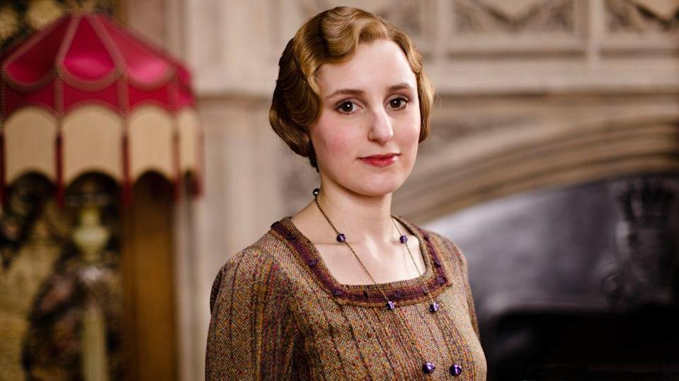 """<p>She was working as a <a href=""""https://www.ourwindsor.ca/whatson-story/5233612-lady-edith-finding-a-voice-for-herself-in-downton-abbey/"""" rel=""""nofollow noopener"""" target=""""_blank"""" data-ylk=""""slk:receptionist"""" class=""""link rapid-noclick-resp"""">receptionist</a> when she read for Edith. </p>"""