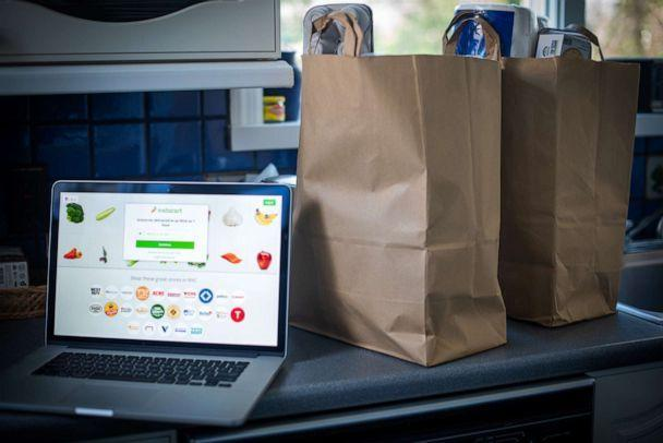 PHOTO: The Instacart website is arranged on a laptop computer in Hastings-on-Hudson, New York, Jan. 4, 2021. (Tiffany Hagler-Geard/Bloomberg via Getty Images, FILE)