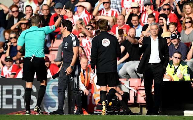 Jose Mourinho's red card makes you fear for referees' common sense