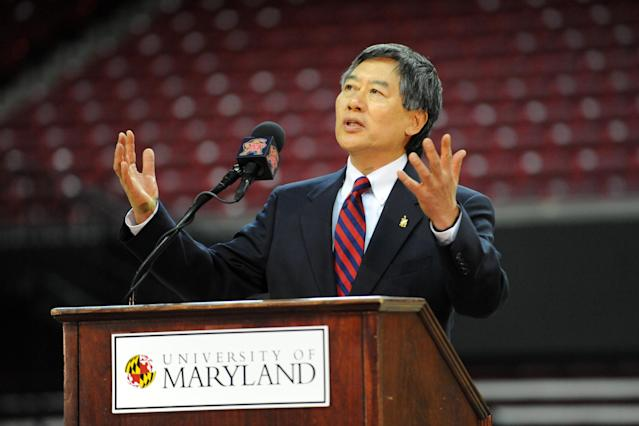 Maryland president Wallace Loh rejected a proposed plan that would have drastically changed athletic health care at the university one year before offensive lineman Jordan McNair died after collapsing at a team workout. (Getty Images)