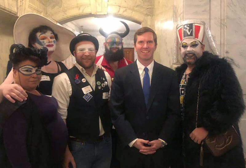 Governor's photo with drag queens stirs controversy in Kentucky