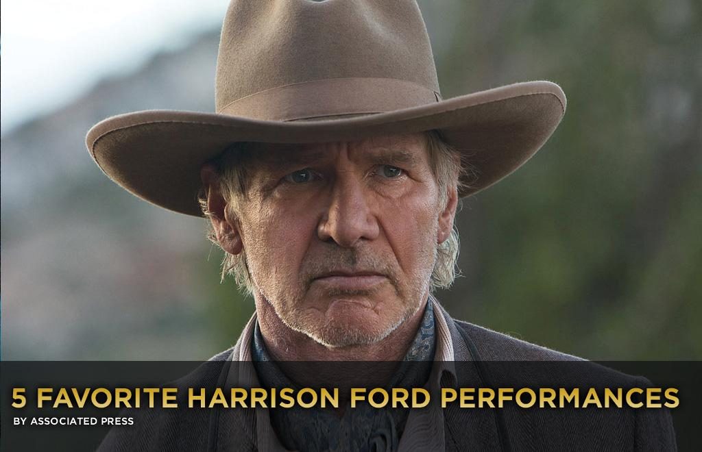 "We're going to cheat a little bit with this week's Five Most list. Because any discussion of Harrison Ford's best performances has to include the iconic roles of Han Solo and Indiana Jones. They're just a given. So we're revisiting five other performances that have stood out over his varied, 40-year film career.   His best days may be behind him, but moments still shine through when he proves he's still got ""it"": that mix of superstar charisma and everyman relatability, heroism and irony. With Ford co-starring in ""Cowboys & Aliens"" this week, <a href=""http://movies.yahoo.com/news/5-favorite-harrison-ford-performances-233451995.html"">here's a look back at some of his finest work:</a>"