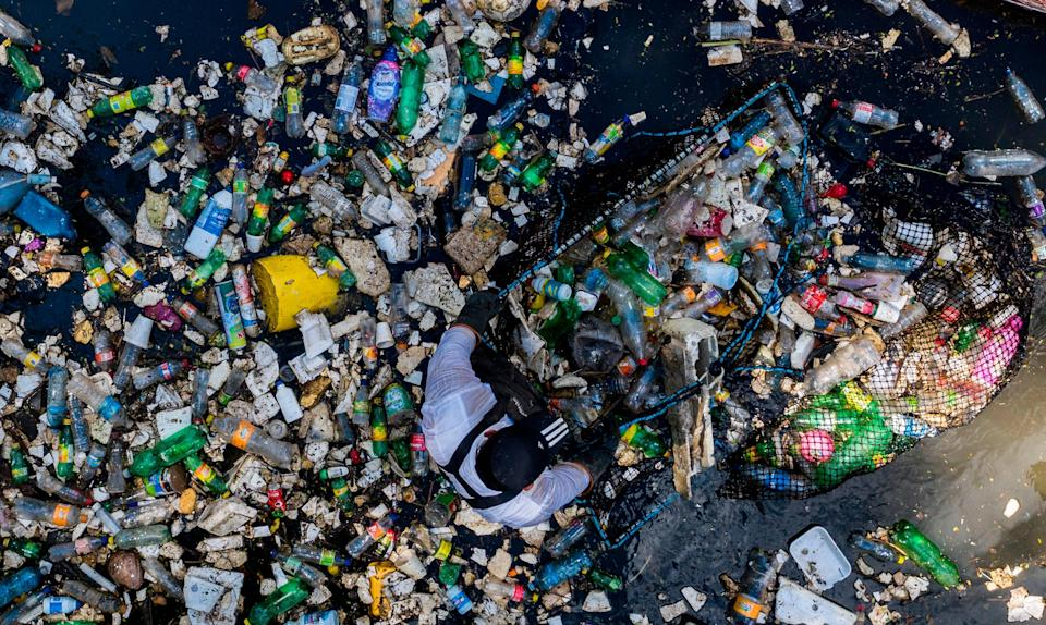 <p>Sea of waste: By 2050, there could be more plastic than fish in the world's oceans</p> (AFP via Getty Images)