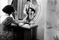 <p>A glamorous minx, Marcia Gay Harden is bedding two rival gangsters. Bringing her own brand of moxie to the role—has an impeccable 1920s era wardrobe, carries a gun, and is not afraid to fight—she manages to play both Tom Reagan (Gabriel Byrne) and Leo (Albert Finney) to aplomb. </p>