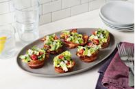 """<p>These lighter <a href=""""https://www.delish.com/cooking/recipe-ideas/g1391/blt-recipes/"""" rel=""""nofollow noopener"""" target=""""_blank"""" data-ylk=""""slk:BLTs"""" class=""""link rapid-noclick-resp"""">BLTs</a> skip the bread and put major emphasis on the bacon - which is what we all really want.<br></p><p>Get the recipe from <a href=""""https://www.delish.com/cooking/recipe-ideas/recipes/a52604/blt-cups-recipe/"""" rel=""""nofollow noopener"""" target=""""_blank"""" data-ylk=""""slk:Delish"""" class=""""link rapid-noclick-resp"""">Delish</a>.</p>"""