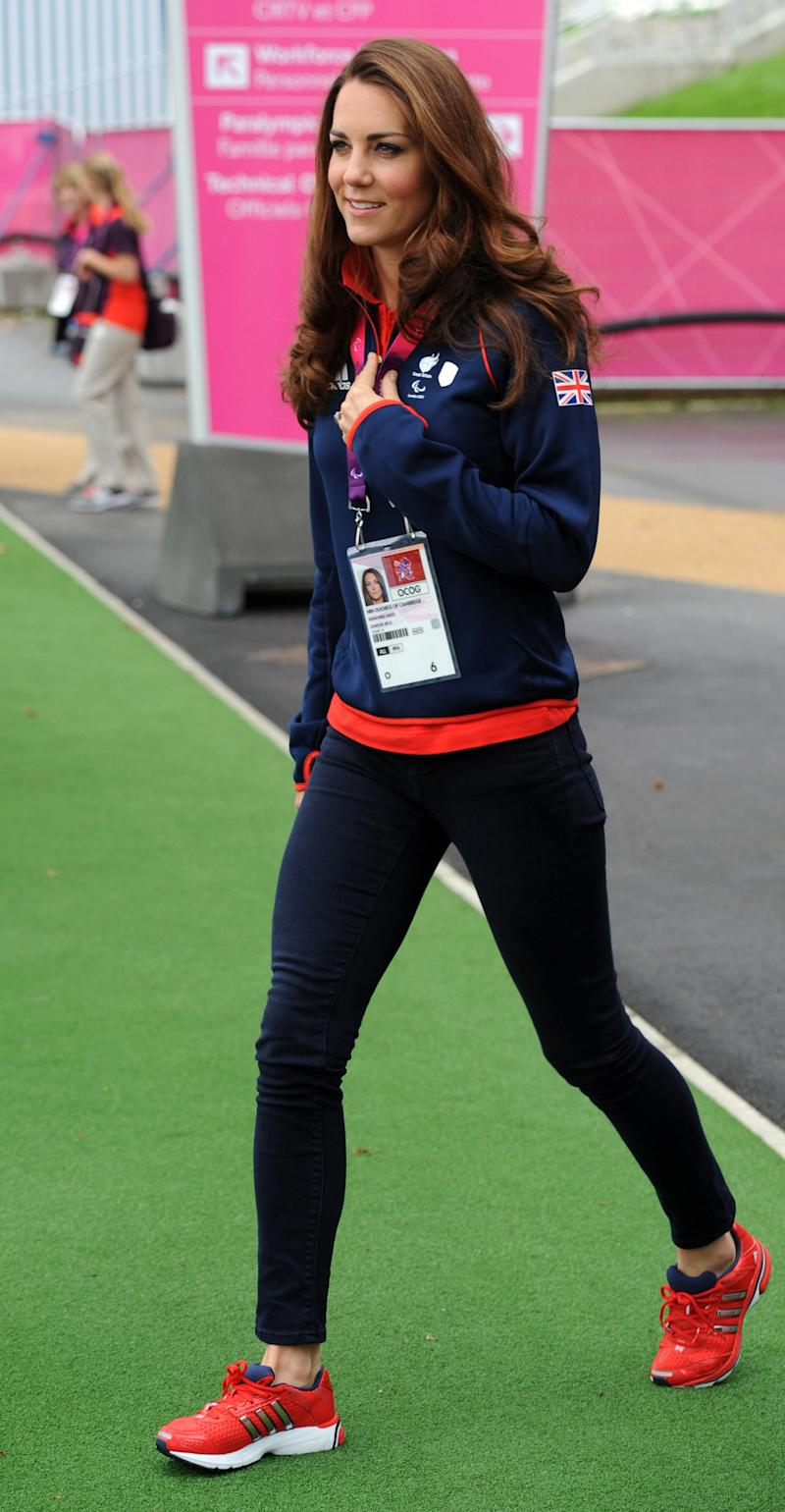 The Duchess of Cambridge during the London 2012 Paralympic Games on Aug. 30, 2012. (STEFAN ROUSSEAU via Getty Images)