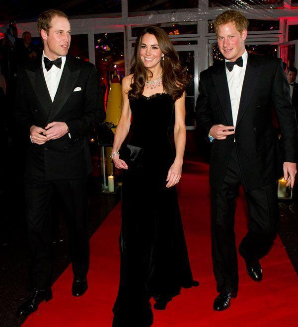 <p>Velvet was the word for a chic black Alexander McQueen gown at the <em>The Sun</em>'s Military Awards in London.</p>